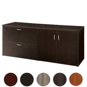 TYP205 - Storage Cabinet and Lateral File Credenza