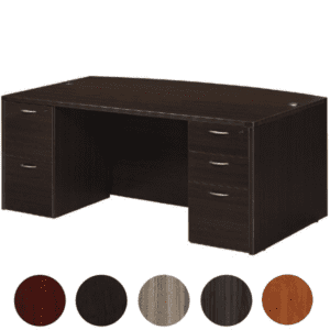 Bow Front NAP89 Executive Desk - Office Star Products