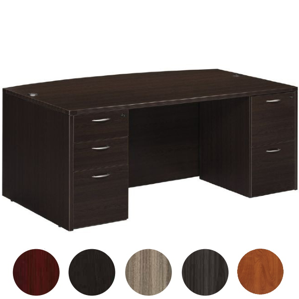 Bow Top Exec Desk - Espresso