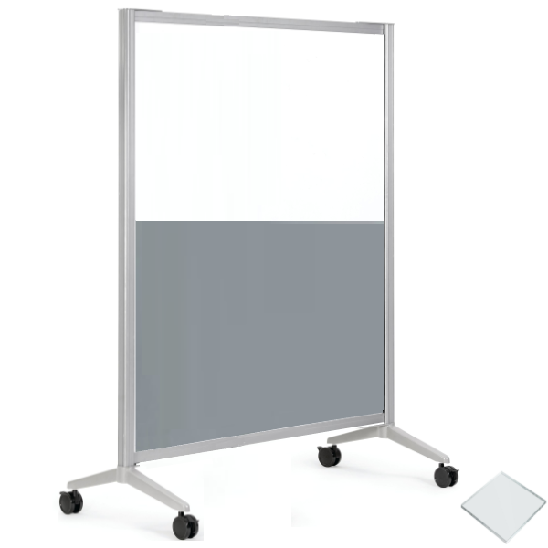 """48""""W x 72""""H Two Tone Office Panel - Acrylic and Laminate"""