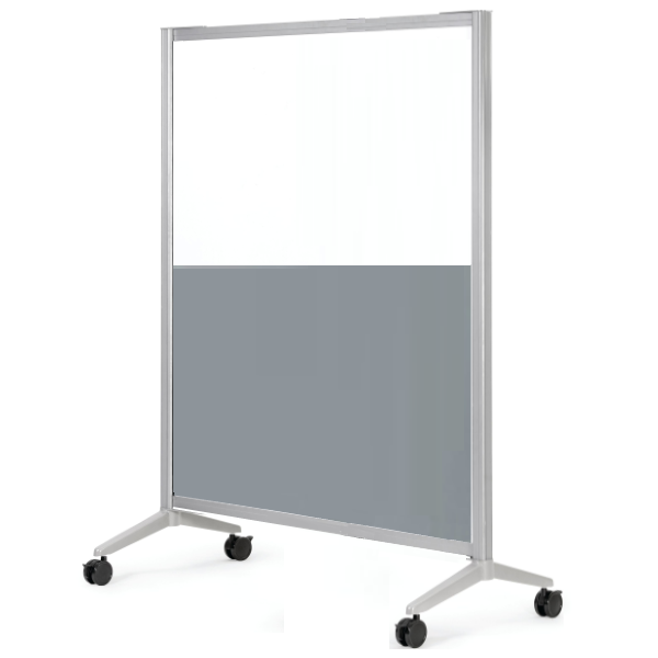 4' x 6' laminate and acrylic mobile room divider