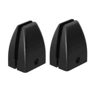 Set of Two PLTSDTMBK Mounting Brackets - Pair of Two Black Mount Desk Brackets