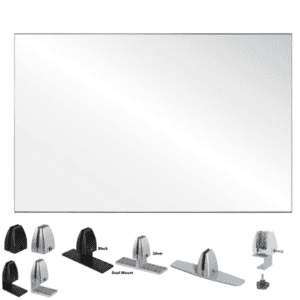 "30""H Clear Acrylic Shield for Desk Privacy"