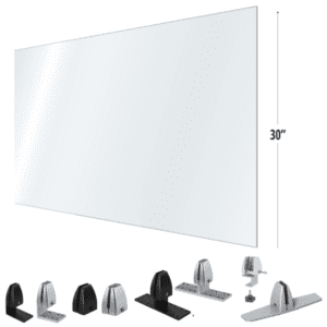 "30""H x 42""W 48""W or 54""W Clear Desk Shield"