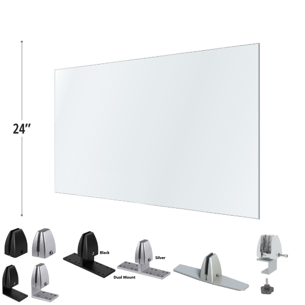 """In Stock 24""""H Acrylic Privacy Shields for Desk"""