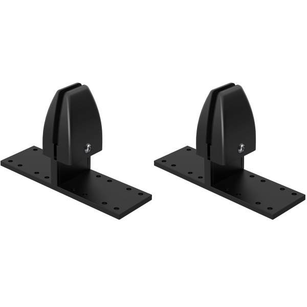 Black Double Mounting Desk Brackets