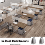 Desk Mounting Brackets - Hold Screens for Privacy and Hygienic Solutions for Workplace