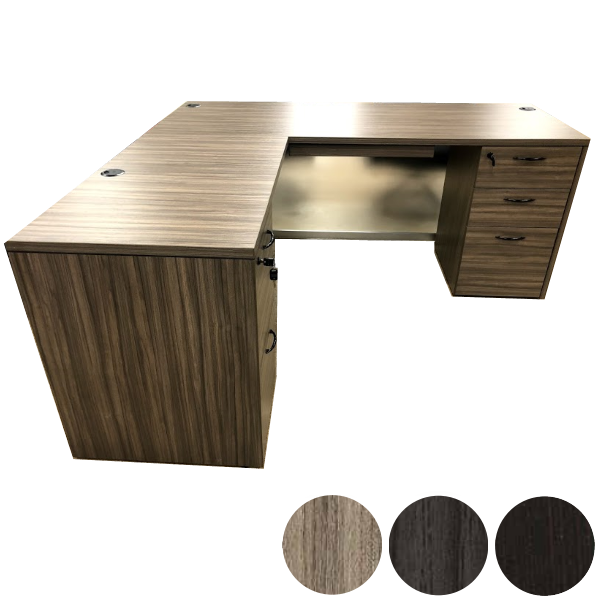 Urban Walnut Left Handed Return - Desk