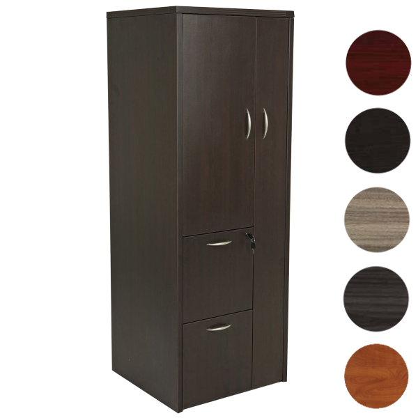 Espresso Storage Tower Cabinet