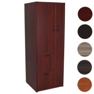 Mahogany Personal Storage Tower - Wardrobe and Filing