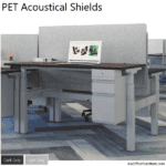 """PET Acoustical Desk Screen 30"""" Tall - AW Office Furniture"""