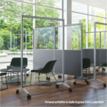 Clear Mobile Office Panels - 6'H x 3'W or 4'W
