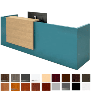 Overture 10'W Reception Desk with Stack On Counter