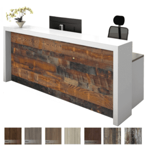 Overture Reception Desk with Recessed Front Modesty Panel