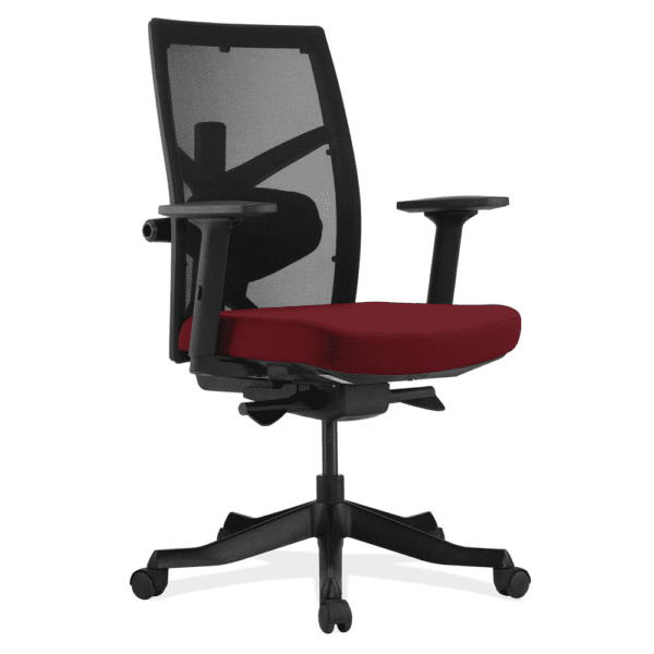 Corpo Task Chair with Burgundy Seat