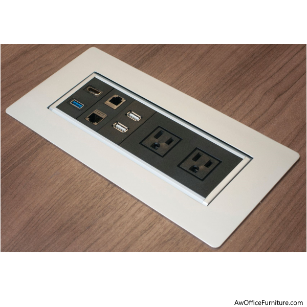 Recessed Power Module for Conference Table