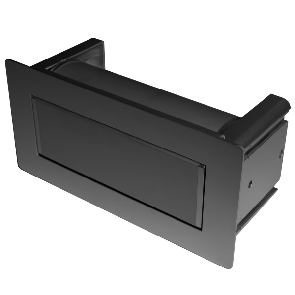 Black Power Module for Conference Table - Concealed Top Cover Plate