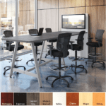 OFS Standing height Powered Conference Table with Power Panel