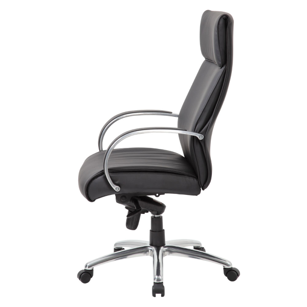 Office Source High Back executive chair - 7765 - side view