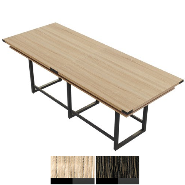 """120""""W x 47""""D Standing Conference Table with Power Capabilities"""