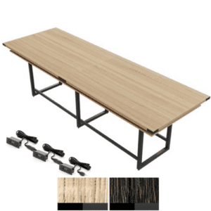 Standing Height Conference Table - Mirella - Sand Dune Finish