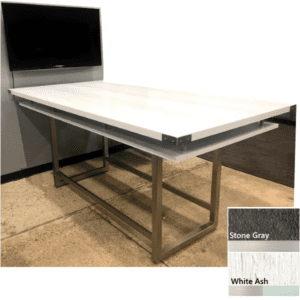 White Ash Finish - Mirella Standing Touchdown Table with Power