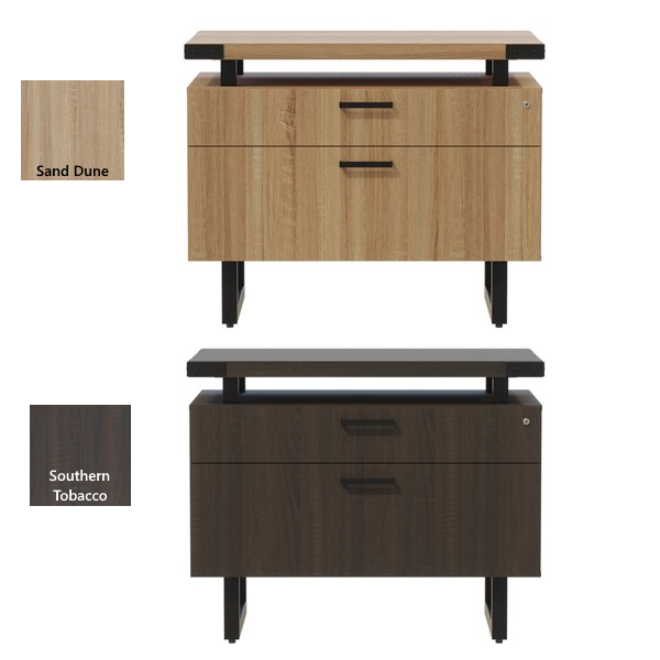 2-Drawer Box/File Lateral File Cabinet - Two Finishes