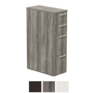 4-Drawer Skinny Storage Pedestal Tower - Steel Gray Finish LGS