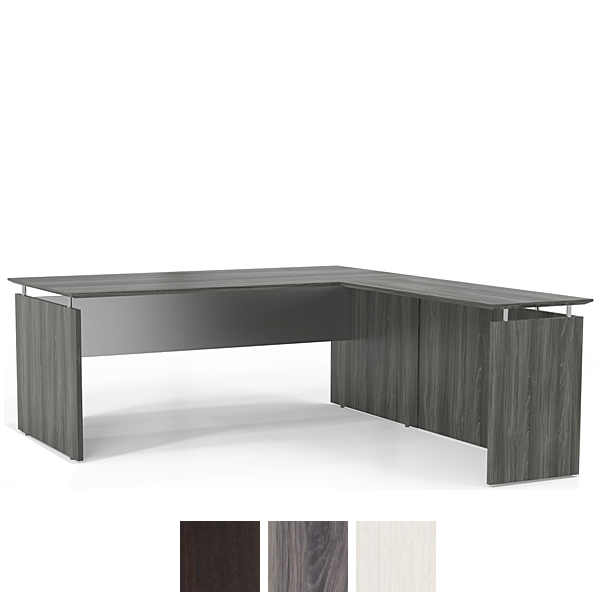 Modern L Shaped Desk with Right Return