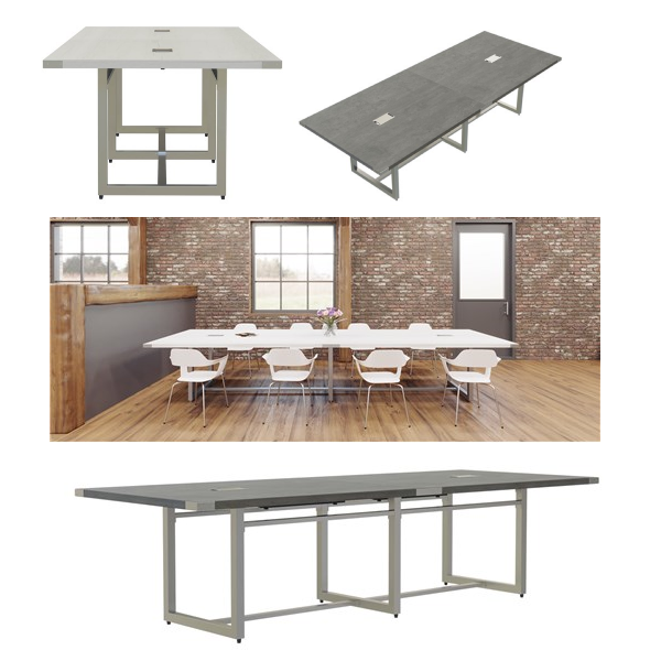 Conference Tables from Mirella Series - White Ash and Stone Gray
