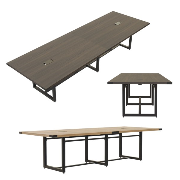 Mirella 10' & 12' Rectangular Conference Tables with Power Options