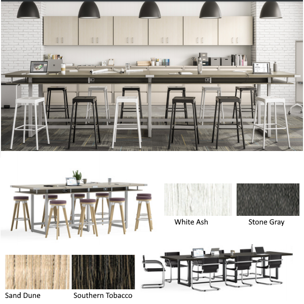 Mirella Touchdown Tables - Collaboration