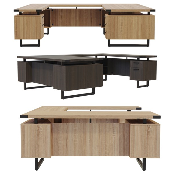 Internal View of U-Shaped Desks - Mirella Series