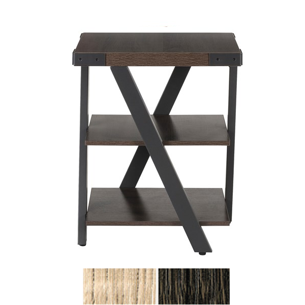 Side view Mirella occasional end table in Southern Tobacco