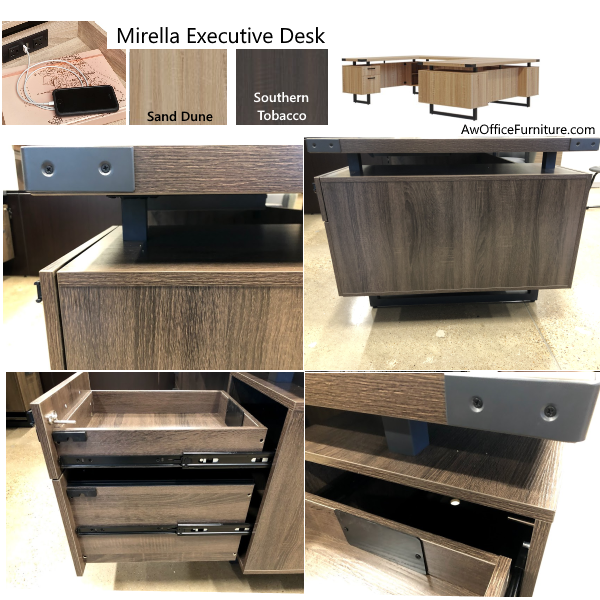 Mirella Series Office Desks Features - U Desk - Mirella Series