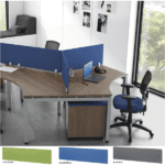 120° Workstations with Privacy Screens