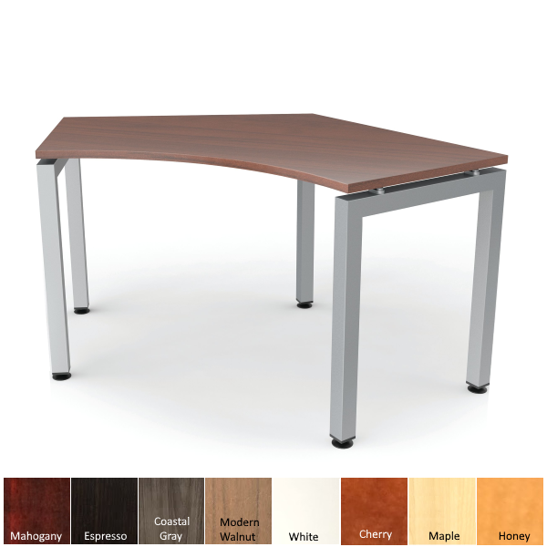 Curved Desk with Steel Base - 120 Degree Surface