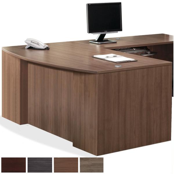 PL Step Bow Front Executive L-Desk
