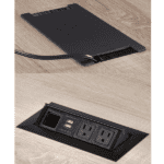 Optional Recessed Power Modules for Conference Tables - Mirella Series Power