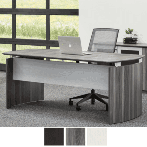 Medina MND72LGS Modesty Panel Desk with Curved End Panels