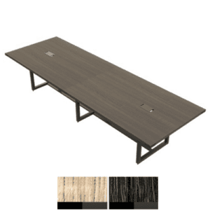Mirella 12' x 4' Rectangular Conference Table - Southern Tobacco