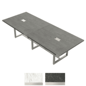 10' x 4' Conference Table in Stone Gray with Silver Base