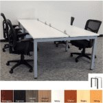 2x2 4-Person Workstation with Frosted Acrylic Screen