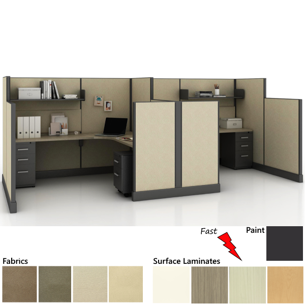 Fast Cubicle Program - set of two workstations