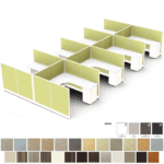 """Set of 8 53""""H Cubicles - 6x6 Cubicles - Anderson and Worth Office Furniture"""