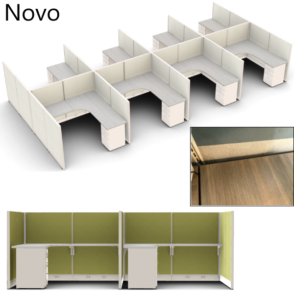 Novo Friant Mid Wall Set of 8 Cubicles