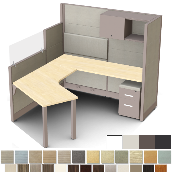 Novo Segmented Fabric Workstation Cubicle - Modular Office Furniture Systems