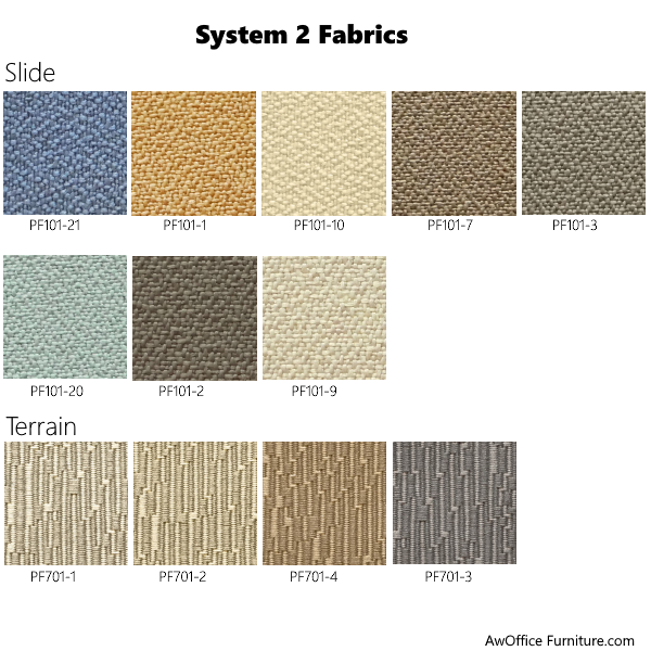 System 2 fabric coverings
