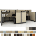 Friant Typical FS5-2001 Cubicle Set of Two