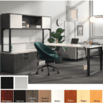 Low Bench File Storage L-Desk with Door Hutch from Office Source